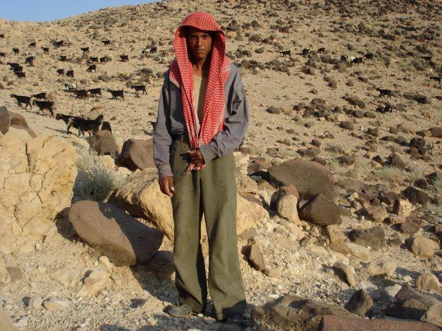 Zdjęcia: Vadi Mujib, pasterz, JORDANIA