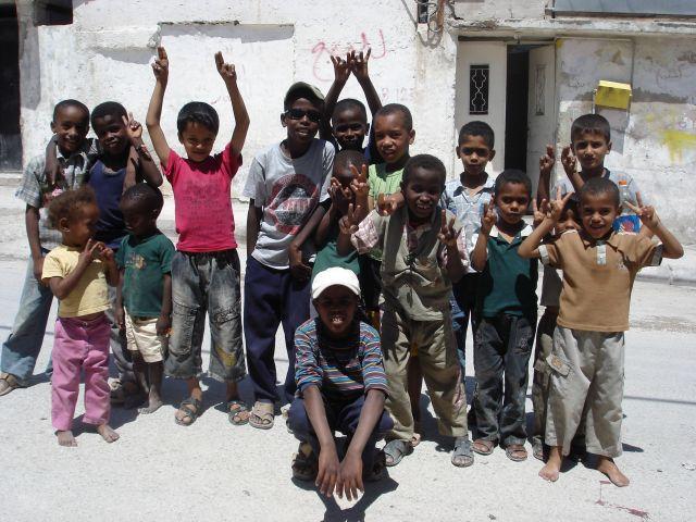 Zdjęcia: Baqa, palestynskie dzieciaki, JORDANIA