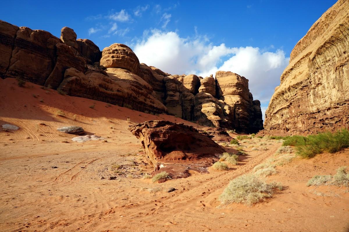 Zdjęcia: Abu Khashaba Canyon, Wadi Rum, U wylotu, JORDANIA