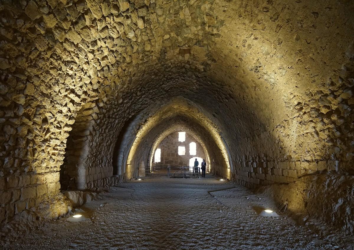 Zdjęcia: ., Al-Karak, Zamkowe podziemia, JORDANIA