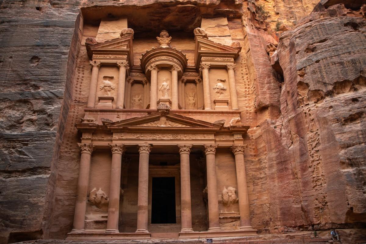 Zdjęcia: Petra, Wadi Musa, Skarbiec Faraona, JORDANIA