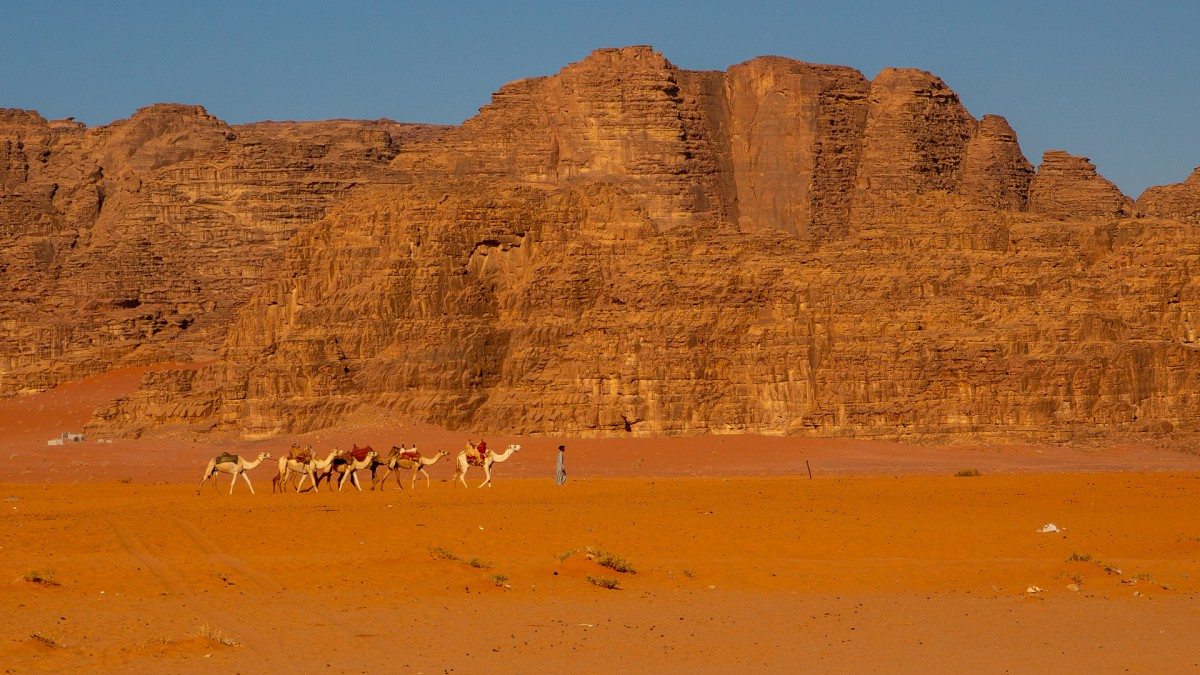 Zdjęcia: Wadi Rum, Akaba, Karawana, JORDANIA