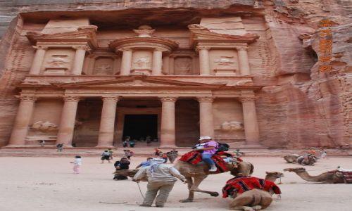 Zdjecie JORDANIA / Bliski Wschód / Petra / Skalne Miasto