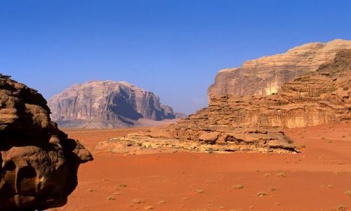 Zdjecie JORDANIA / Wadi Rum / Wadi Rum / pustynny profil