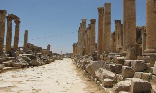 JORDANIA / północna Jordania / Dżeresz / Ruiny miasta rzymskiego