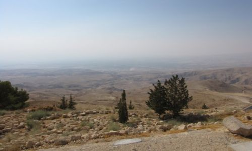 JORDANIA / środkowa jordania / Góra Nebo / Widok na Ziemię Obiecaną