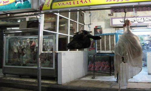 JORDANIA / południowa Jordania / Akaba / Wystwa sklepu mięsnego