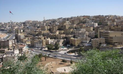 JORDANIA / środkowa Jordania / Amman / Panoram stolicy