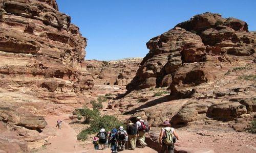 Zdjecie JORDANIA / południowa Jordania / Petra / panorama Petry