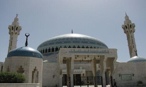 JORDANIA / północna Jordania / Amman / meczet króla Abd Allaha