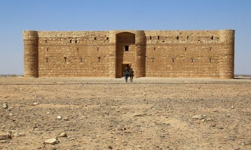 Zdjęcie JORDANIA / środkowa Jordania / pustynia / pałacyk Al-Charana