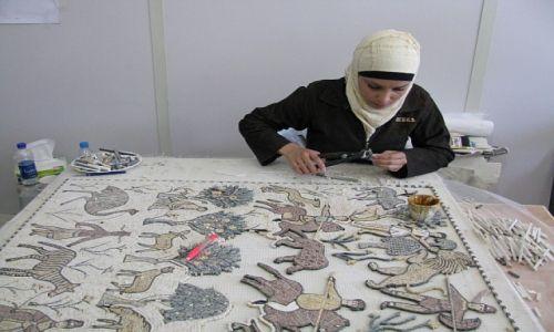 Zdjęcie JORDANIA / zachodnia Jordania / Madaba / wytwórnia fresków