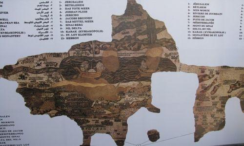 Zdjęcie JORDANIA / zachodnia Jordania / Madaba / kopia mozaiki z Madaby