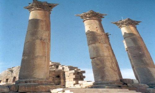 Zdjecie JORDANIA / Amman / Świątynia Herkulesa / OT TAKIE WYSOKIE KOLUMNY