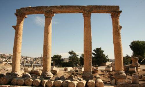 Zdjęcie JORDANIA / Irbit / Jerash / Owalne Forum, fragment