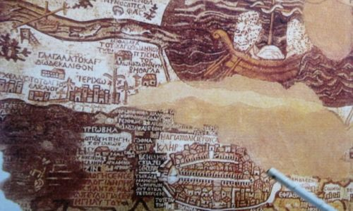 Zdjęcie JORDANIA / - / Madaba / Starożytna mapa Jerozolimy