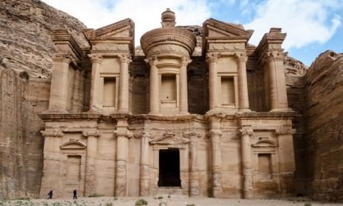 Zdjęcie JORDANIA / Petra / monastyr / fasada...