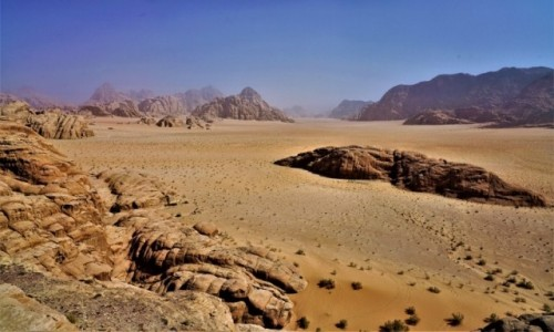 JORDANIA / Wadi Rum / Pustynia Wadi Rum / Kolory pustyni