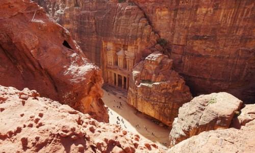 Zdjęcie JORDANIA / Muhafaza Ma'an / Petra / Skarbiec z góry