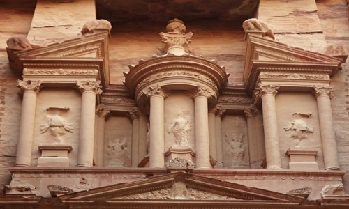 Zdjęcie JORDANIA /  Muhafaza Ma'an / Petra / W różowej skale