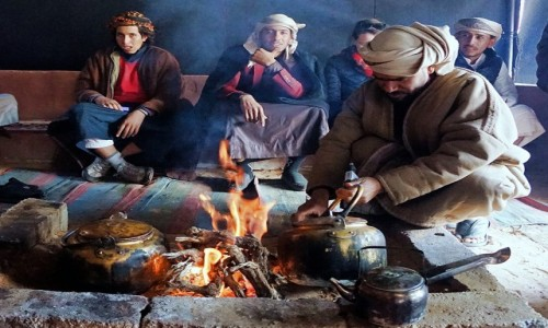 JORDANIA / Wadi Rum / . / Herbata u Beduinów