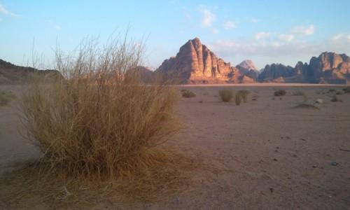 Zdjecie JORDANIA / południe Jordani / wadi rum /  klimat na Wadi Rum