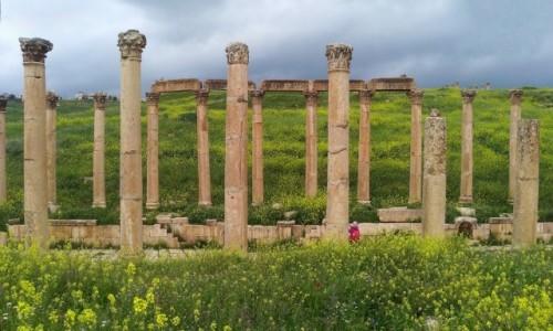 Zdjecie JORDANIA / Jerash / Rzymskie miasto / Wiosennie