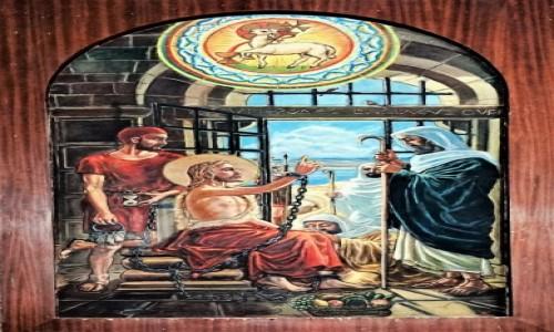 Zdjecie JORDANIA / Madaba / Kościół św. Jana Chrzciciela / Uwięziony