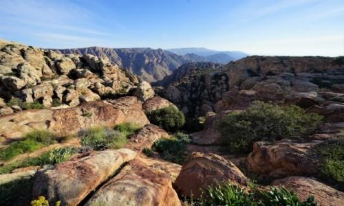 Zdjęcie JORDANIA / Tafilah / Rezerwat biosfery Dana / Czym dalej tym piękniej