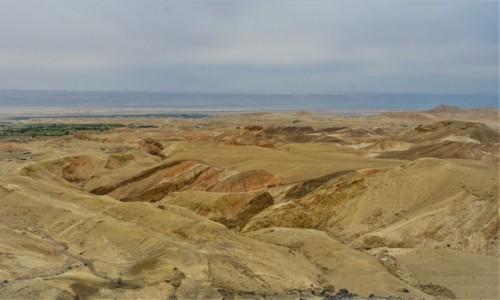 Zdjęcie JORDANIA / Morze Martwe / . / Barwne skały z widokiem