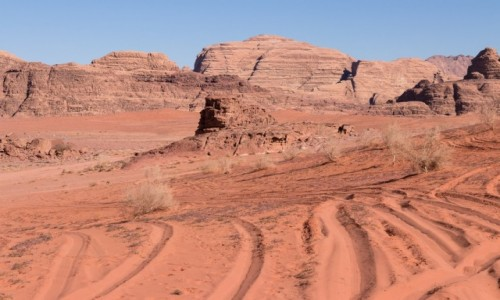 Zdjecie JORDANIA / Wadi Rum / Wadi Rum / Kolory pustyni