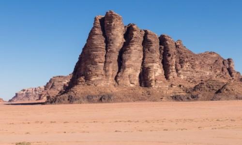 """JORDANIA / Wadi Rum / Wadi Rum / """"Siedem Filarów Mądrości"""
