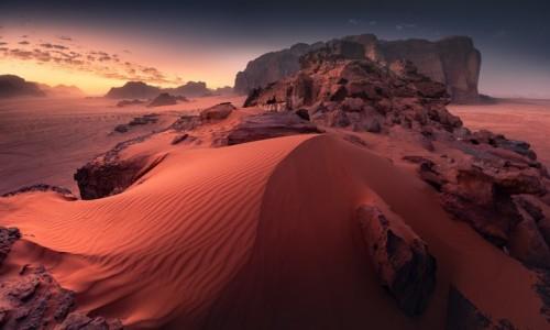 JORDANIA / Wadi Rum / Wadi Rum / Poranek na Wadi Rum