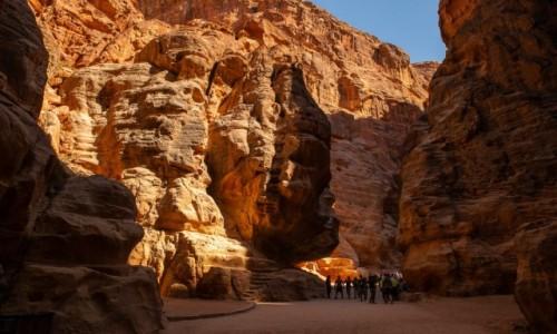 Zdjecie JORDANIA / Wadi Musa / Petra / Kanion Siq