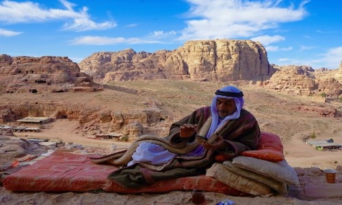 JORDANIA / Muhafaza Ma'an / Petra / Jak w baśni
