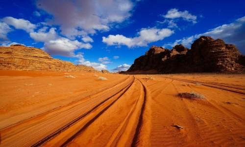 Zdjecie JORDANIA /  Pustynia Wadi Rum  / . / Pustynne szlaki
