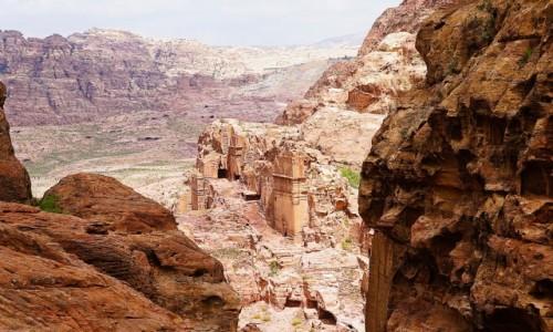 Zdjecie JORDANIA / Muhafaza Ma'an / Petra / Kamienna architektura
