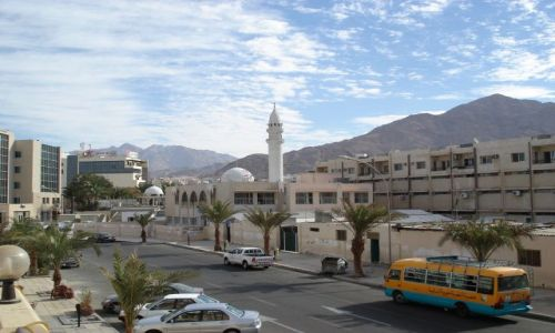 Zdjęcie JORDANIA / Aqaba / Aqaba / Panorama Aqaby
