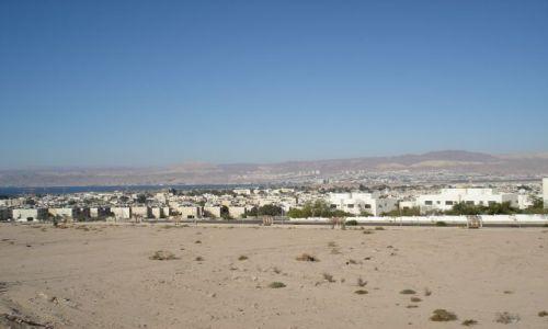 Zdjęcie JORDANIA / Aqaba / Aqaba / Panorama Aqaby i wybrzeża
