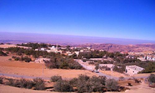 JORDANIA / muhafaz Maan / między Akabą a Petrą / Jordania z autokaru