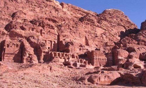 JORDANIA / płd-zach Jordania / Petra /  starożytna Petra była stolicą królestwa Nabatejczyków