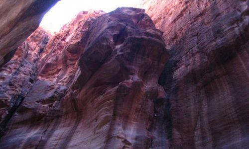 Zdjęcie JORDANIA / pld-zach Jordania / Petra / skała