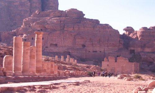 Zdjęcie JORDANIA / pld-zach Jordania / Petra / Pałac córki faraona
