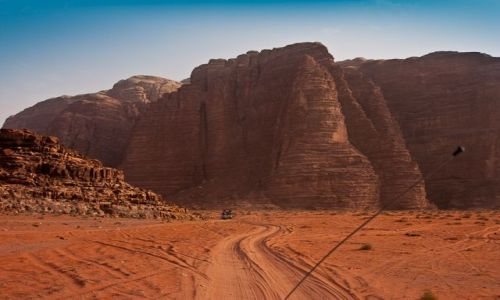 Zdjęcie JORDANIA / Jordania / Wadi Rum / Na pustyni Wadi Rum