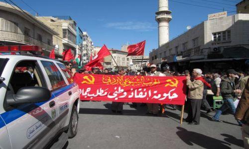 Zdjecie JORDANIA / Amman / Centrum miasta / Manifestacja 28 stycznia 2011