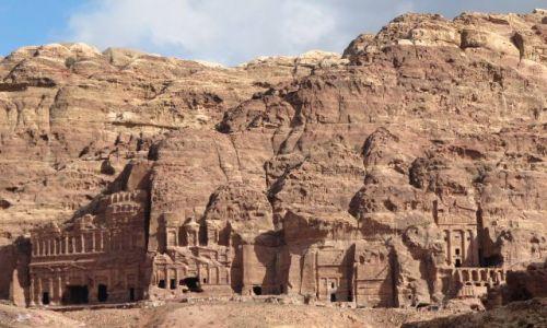 JORDANIA / Petra / Starożytne miasto / grobowce Petry