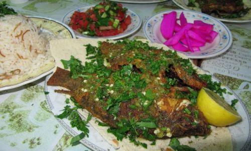 Zdjęcie JORDANIA / Akaba / restauracja / Rybki z Morza Czerwonego