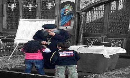 Zdjęcie JORDANIA / brak / kościół koptyjski / a to ci problem...
