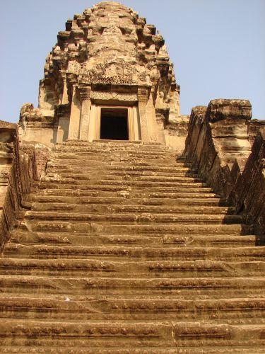 Zdjęcia: Angkor - świątynia Angkor Wat , schody na górny taras , KAMBODżA