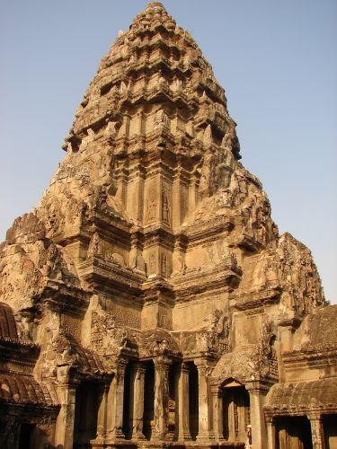 Zdjęcia: Angkor - świątynia Angkor Wat , wieża południowa , KAMBODżA